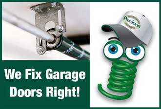 Spring Mascot - We Fix Garage Doors Right!